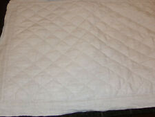 Pottery Barn Belgian Flax Linen Quilted Diamond Pattern Set Of 2 Pillow Shams