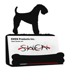 Swen Products Kerry Blue Terrier Dog Black Metal Business Card Holder