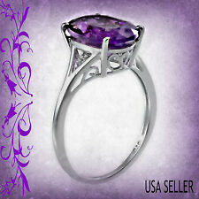 TGW 5.20 Cts. Bold and Lovely African Amethyst (14x10) Solitaire Ring