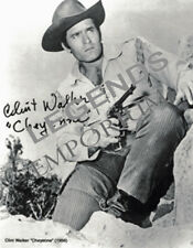 "CHEYENNE - Clint Walker Autographed  8""x10"" B&W Photo Copy  CW-04"