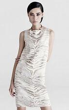 """SALE! NEW $598 LAFFAYETTE """"VALENTINA"""" ZEBRA PRINT JAQUARD DRESS 10, L"""
