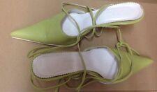 Sandali donna alla schiava m.39 marca Ony'Shoes Color verde pistacchio