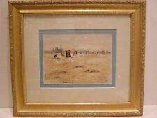 WATER COLOR SARAH SOPHIA BEALE BRITISH 1860 -1889 LISTED ARTIST BRIGHTON BEACH P