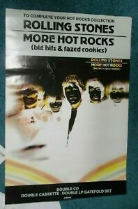 """THE ROLLING STONES More Hot Rocks Big Hits Fazed Cookies 30"""" x19.5"""" Promo Poster"""