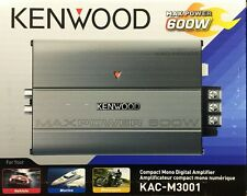 NEW Kenwood KAC-M3001 Class D Monoblock Compact Digital Car/ATV/Marine Amplifier