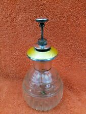 More details for antique sterling silver hallmarked yellow guilloche perfume bottle 1925