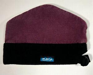 Kavu Hat Canvas Fleece Adjustable Bucket Beanie Skullcap Purple Black Seattle WA