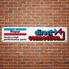 Mopar Direct Connection Banner Garage Workshop PVC Sign Car Parts Display