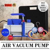 4CFM Unterdruckpumpe Vakuumpumpe 4-Wege Monteurhilfe Vacuum Pump Messuhr 245W