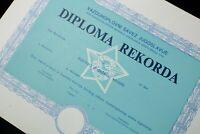 Certificate Of RECORD in JNA Army RV I PVO Yugoslavia SPECIMEN Josip Broz Tito