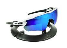 OAKLEY RADAR EV PATH SILVER BLACK FRAME / REVANT ICE BLUE POLARIZED CUSTOM LENS