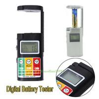 0-9V Battery Voltage Tester Digital LCD Checker For AA AAA R1 LR1 R03  LR03 R6C