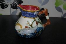 Shorter & Son Antique Majolica Fish Jug Fish & Shell Moulded Decoration