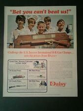 1967 Jaycees BB Pump Gun Champs Daisy Air Rifle Toy AD