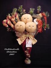 Primitive Christmas Santa's Cap Crow Snowmen Doll Candy Cane Greeter Pattern
