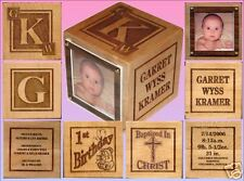Baby Memorial Gift or Adoption Gift Block,LARGE3in.Size