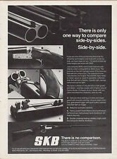 1978 SKB Side-by-Side Shotgun Ad w/ close-up photos