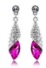 cristal bijoux diamante Brillant Strass Rose Rose Boucles d'oreilles goutte E549