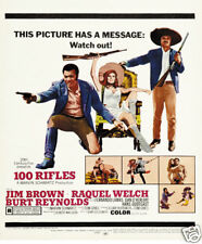 100 rifles Raquel Welsh Burt Reynolds movie poster