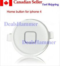 Keypad Menu Button Key Repair Replacement Part 4 iPhone 4 4S 4G WHITE FRM CANADA