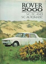Rover 2000 SC & TC P6 1968-70 Original UK Market Foldout Sales Brochure