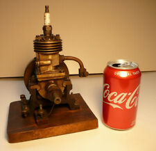 Vertical hit miss gas engine ~ Rare Early Model ~ 9 inches tall mounted