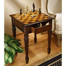 "Antique Replica European 26"" Handmade Hardwood Chess Gaming Table"