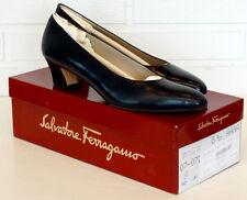 SALVATORE FERRAGAMO Pumps SNELLA Navy Blue CALF LEATHER Shoes / NEW IN BOX