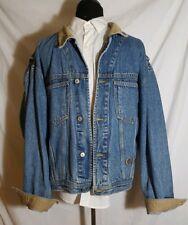 Vintage 90s Tommy Hilfiger Mens Denim Trucker Jacket Blue Jean Crest Logo Large