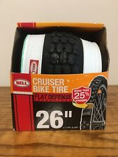 Bell Cruiser Whitewall Bike Tire 26 x 1.75 - 2.25 with Flat Defense New in Box