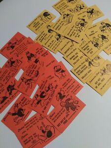 1961 Monopoly Parker Bros. 32 Original Community Chest & Chance Cards