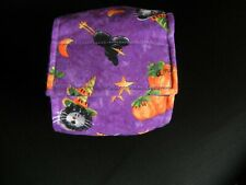 "Dog Puppy Belly Band Wrap Contour Diaper Male Puppy Flannel lined 17"" HALLOWEEN"