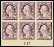 483, Mint XF LH 3¢ Plate Block of Six Stamps Cat $125.00 -- Stuart Katz