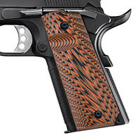 Guuun G10 1911 Grips Full Size Government Grip Ambi Safety Cut Starburst Texture