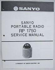 SANYO RP-1750 Space Age Transistor Radio Original SERVICE MANUAL RP1750