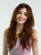 Charming Fluffy Layered Long Red/Brown Straight Wig Synthetic Hair Capless