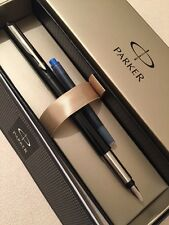 PARKER VECTOR BLACK CT BROAD ITALIC NIB FOUNTAIN PEN-GIFT BOX-NEW OLD STOCK