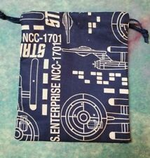 Star Trek Enterprise dice bag, card bag, makeup bag
