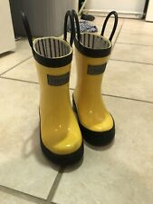 Hatley Toddler Kids Rain Boots Rubber MidCalf Pull On, Yellow Size 5
