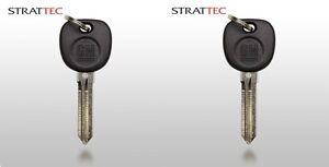 2 New GM OEM Transponder Ignition Key Uncut Blade Blank Car Key Chipped