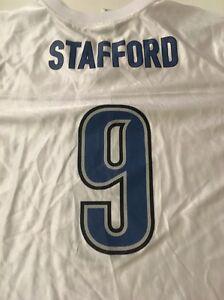 NWT! Matthew Stafford Detroit Lions NFL Team Apparel Jersey Size Youth XL 18-20