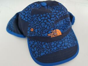 Kids unisex The North Face Sun hat cap with neck cover, blue , elasticated fit