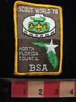 Vtg 1978 BSA Patch BOY SCOUT WORLD '78 - North Florida Council 70WC