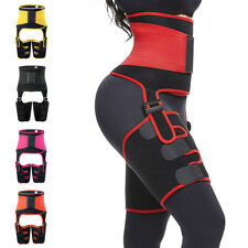 3 in 1 High Waist Thigh Trimmer Neoprene Sweat Shapewear Slim Leg Shaper Belt