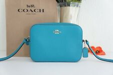NWT COACH 87734 Mini Camera Bag Pebble Leather Crossbody Teal $250