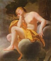 "high quality  oil painting 100% handpainted on canvas ""sleeping venus in clouds"""