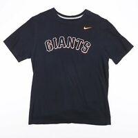 Vintage NIKE New York Giants Black Football Sports T-Shirt Men's Size Large