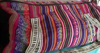 Vintage Colorful Peruvian Duffel Bag Machu Picchu