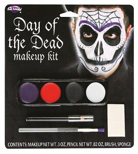 Day of the Dead Make Up Kit Dia de los Muertos Sugar Skull Face Paints
