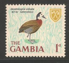 Gambia #216 (A14) VF MINT NH - 1966 1p White-Faced Tree Duck - Bird